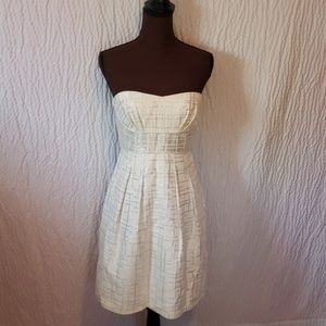 Bcbg maxzaria 6 party dress silver cream